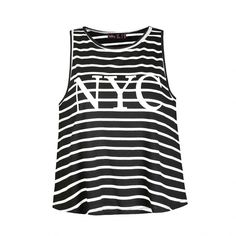 Ally Fashion Nyc Stripe Tank Top ($12) ❤ liked on Polyvore featuring tops, shirts, stripe, tank tops, tank tops/crop tops, crop shirt, cut-out crop tops, striped crop top, stripe tank and shirt tops