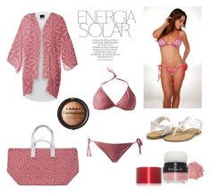"""Pink Coral Swimwear Collection"" by kelly-cavender ❤ liked on Polyvore featuring Magdalena, Koh Gen Do and LORAC"