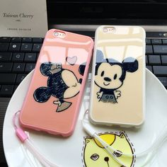 Kiss Mickey Lover Couples Phone Case FOR IPHONE 6 PLUS Hot Sale Cute Sweet Soft Silicone Cartoon Phone Cover FOR IPHONE 6s PLUS | iPhone Covers Online