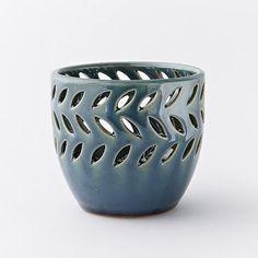 Pierced Ceramic Candleholders #westelm