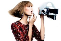 Daft Punk & Karlie Kloss for Vogue by Craig McDean