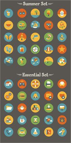 Freebie: Summer And Essentials Icon Set (50 Icons, EPS, AI, PNG) - Smashing Magazine