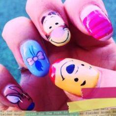 pooh nail art