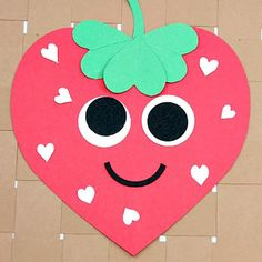 Very Strawberry Valentine Craft - From classroom activities to handmade Valentines to play at home kids will love to make these 18 super cute DIY craft projects. Each of these Valentine crafts is easy enough for most ages to enjoy making. #valentinesday #kidscrafts #diyvalentines #crafts #valentine #valentinecrafts #valentinesdaycrafts #craftsforkids