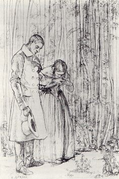 I took that dear hand, held it to my lips, then let  it pass round my shoulder  -  Jane Eyre Illustrated: Edith Gabain