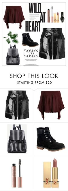"""""""Black."""" by carolinedevine ❤ liked on Polyvore featuring Isabel Marant, Sans Souci, Timberland and Yves Saint Laurent"""