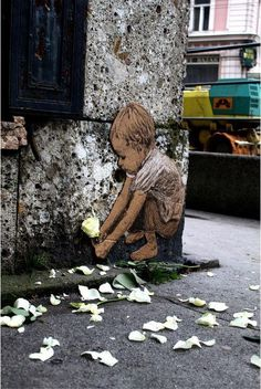 #street art #graffiti Love this one. Sweet little guy. | MuchPics