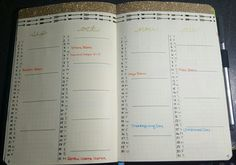 My future log layout in my Bullet Journal