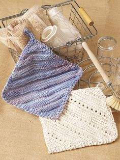 Simple Ridge & Eyelet Dishcloth | Yarn | Free Knitting Patterns | Crochet Patterns | Yarnspirations
