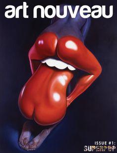 in a body (art nouveau) Art Nouveau, Fotografie Portraits, The Rolling Stones, Foto Art, Arte Pop, Woman Painting, Painting Art, Lips Painting, Optical Illusions