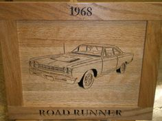 1968 Plymouth RoadRunner by Rickswoodworks1 on Etsy