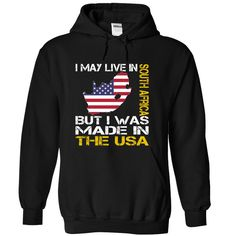 (Deal Tshirt 1 hour) I May Live in South Africa But I Was Made in the US at Tshirt United States Hoodies, Funny Tee Shirts