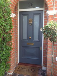 victorian style front door - colour