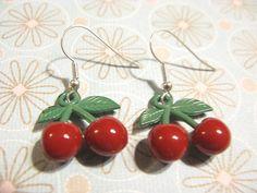 Juicy Red Cherry Earrings