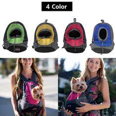 Mesh Backpack Head Out Double Shoulder Pet Carrier Dog Carrier Backpack Bag Portable Travel Bag Pet Dog Front Bag