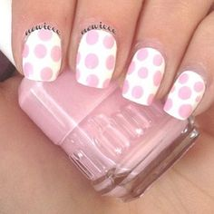 pink and white polka dots <3