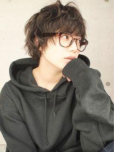 ヘアーデザイン アルエ(HAIR×design ARUE) 黒髪マッシュレイヤーショート☆くせ毛風*