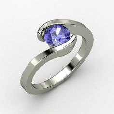 Round Tanzanite Ring