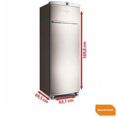 Imagem para Freezer Frost Free Brastemp Flex Vertical 228L Inox - BVR28HR a partir de Fast Shop