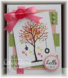 Nice card to make using the new Sheltering Tree Stamp set in the Stampin Up Occasions 2015 catalogue