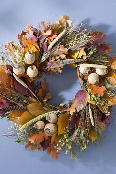 Love these beautiful farm wreaths for Gorgeous autumn colors, pumpkins, gourds, mesh, wood signs and more. Perfect as rustic farmhouse front door decor. Diy Fall Wreath, Autumn Wreaths, Velvet Pumpkins, Fall Pumpkins, Farmhouse Fall Wreath, Farmhouse Front, Rustic Farmhouse, Gather Wood Sign, Fall Wood Signs