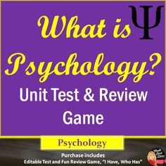 this purchase includes an editable unit test what is psychology and fun and