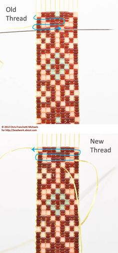 Free Loom Bead Patterns | Start a New Weft Thread as Needed