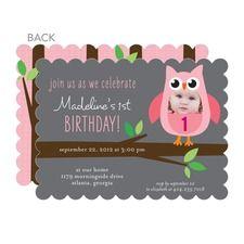 Happy Hoots: Rose Birthday Invitations