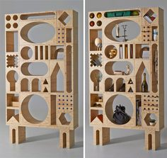 Developing Blocks For Adults: Creative Odd-Shaped Shelving | 2014 Interior Designs