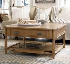 natural coffee table decor