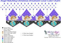 Angel Watching Christmas Ornament Cover Bead Graph for Beading