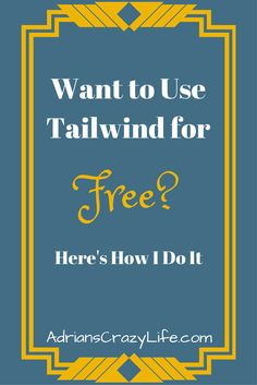 I have a great strategy I use to get my Tailwind for FREE. You can do it too. They have an amazing affiliate program and I show you to use it successfully.