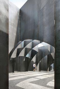 Steel Labyrinth by Architect Gijs Van Vaerenbergh - C-Mine in Genk Belgium
