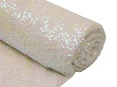 White 4 Yards Sequin Fabric Bolt (12 Feet).  Choose from 15 colors. By Zemboor