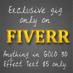 joshikirti: write Anything with Stylish 3D Golden Text for $5, on fiverr.com