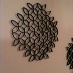 Toilet paper roll art... Better at a slight angle