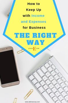 Discover how to properly keep up with your income and expenses for your business taxes if you are self-employed. Business Tax Deductions, Tax Refund, Bill Organization, Business Organization, Organizing, Small Business Tax, Business Ideas, Online Business, Income Tax Preparation