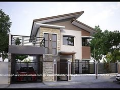50 Small Two-storey House Designs That Can Be Fitted In Small Lot Area - Facade house - Pinnwand Zen House Design, 2 Storey House Design, Bungalow House Design, Minimalist House Design, Two Storey House Plans, Zen Design, Design Ideas, Modern Zen House, Modern House Plans
