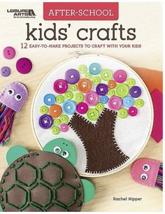 Diy Crafts For Kids Easy, Crafts For Seniors, Fun Arts And Crafts, Craft Projects For Kids, Creative Crafts, Kids Crafts, Craft Ideas, Easter Crafts, Button Crafts For Kids