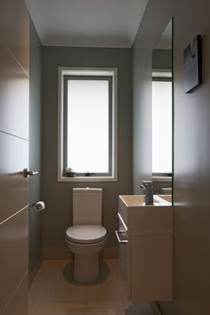A separate toilet is ideal for busy family's. And you can also make it a great little room with your choice of colours, fittings, and materials! Toilet Room, House Extensions, Home And Living, Toilet Ideas, Colours, Toilets, Separate, Interior, Bedroom Ideas