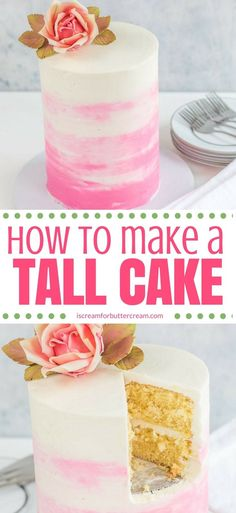 A tall cake just looks elegant and stately, but there are a few tricks and tips to know before you make one. You could have a disaster on your hands if not done correctly, so I\'ve put together my tips and tricks on how to accomplish it. #tallcake #doublebarrelcake #cakedecorating #caketutorial