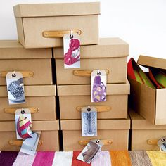 Store your shoes in shoeboxes with printed out Instagrams of your shoe collection.
