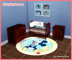 Sims 4 CC's - The Best: Mickey Baby Bedroom by NathaliaSims