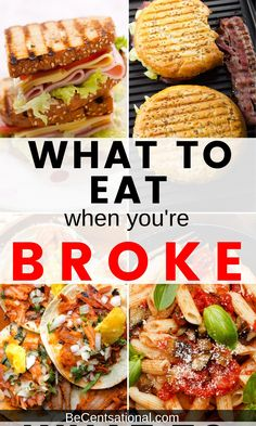 Cheap food to buy when broke. Don't sacrifice taste while on a tight budget. A list of frugal foods to buy & recipes for cooking inexpensive meals! Cheap meals   Budget meals   frugal recipes   budget recipes   cheap dinners for a family   dinner ideas #quickmeals #easydinner #recipes #chickenrecipes Frugal Recipes, Frugal Meals, Budget Meals, Quick Meals, Snack Recipes, Beginner Cooking, Cooking For Beginners, Inexpensive Meals, Cheap Dinners