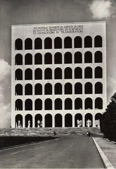 The Square Colosseum also known as Palazzo della Civiltà Italiana, was built the symbolize Rome's district Esposizione Universale Roma (EUR). The EUR is now a large business center and suburban district in Rome.