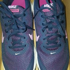 Women's Nike Flex Navy and lavender. Cute for summer! Size 8 worn once. Nike Shoes Sneakers