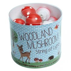 Whimsical, vintage inspired and a gorgeous addition to any baby or childs room!  A beautiful string of eight battery powered woodland mushroom lights - guaranteed to delight!    Perfect as a baby gift - there won't be a double up of these at a baby shower!  Little Boo-Teek - Shop Lark Online | Baby Shower Gifts Online | Baby Shop Online