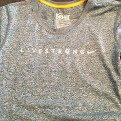 Livestrong Nike tee DriFit Livestrong tee! Worn once-space dye blue/gray Nike Tops Tees - Short Sleeve