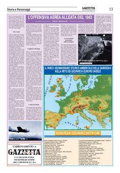 """La Gazzetta del Sulcis. n.525. Alberto Monteverde. """"L'offensiva aerea alleata del 1943""""."""