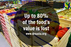 UP TO 80% OF THE FOOD'S VALUE IS LOST